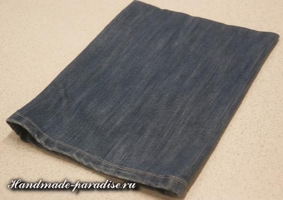 Как сшить сумочку-мешочек из джинсов