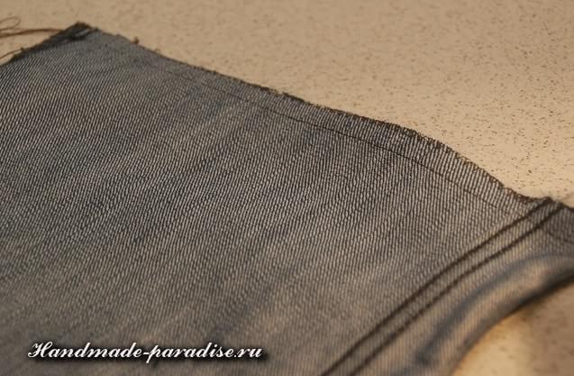 Как сшить сумочку-мешочек из джинсов (3)