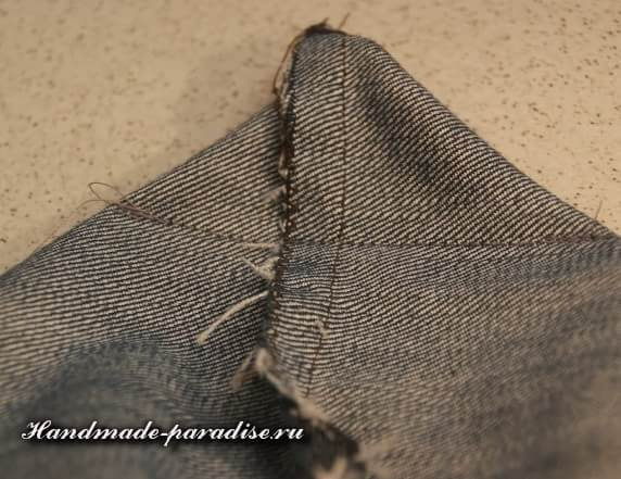 Как сшить сумочку-мешочек из джинсов (5)