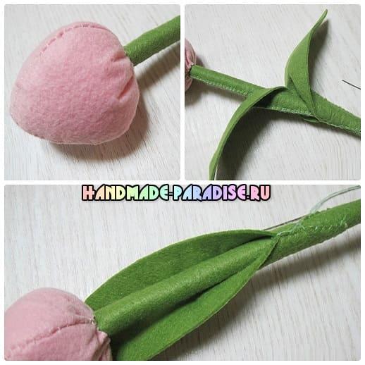 Как сшить тюльпаны из фетра (5)