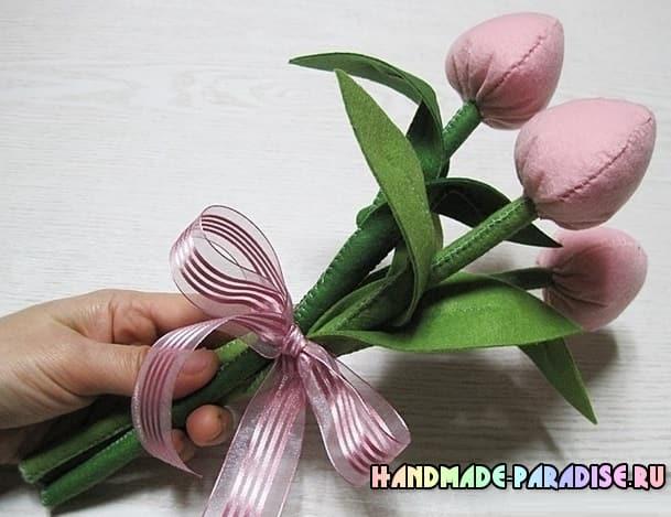 Как сшить тюльпаны из фетра (6)