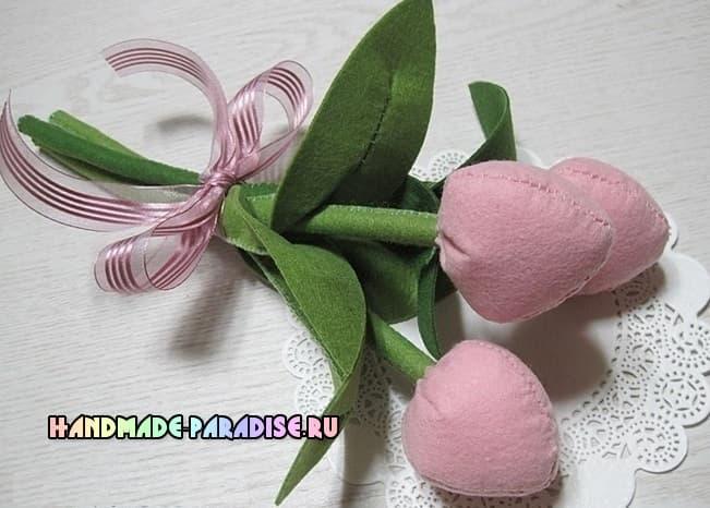 Как сшить тюльпаны из фетра (7)