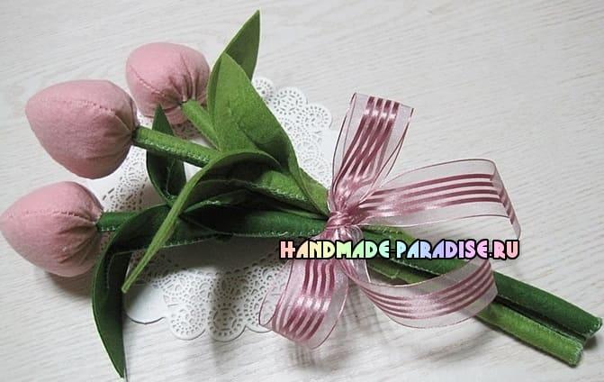 Как сшить тюльпаны из фетра (8)