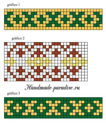 Схема летнего разноцветного пуловера крючком (4)