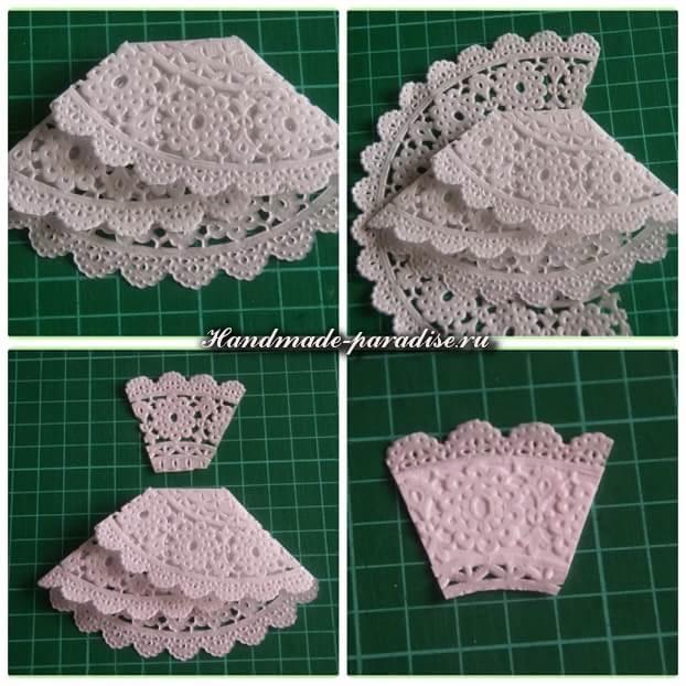 Открытка с платьем из салфетки (2)