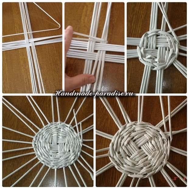 Плетение ветряной мельницы из газет (4)