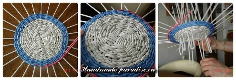 Плетение ветряной мельницы из газет (5)