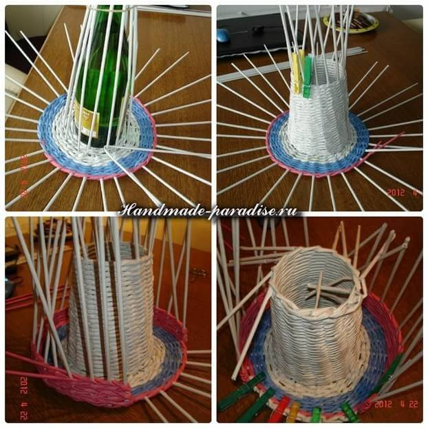 Ветряная мельница из газет (6)