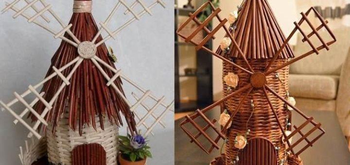 Плетение ветряной мельницы из газет