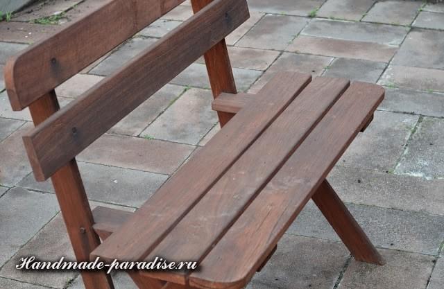 Шитье чехла для садовой скамейки