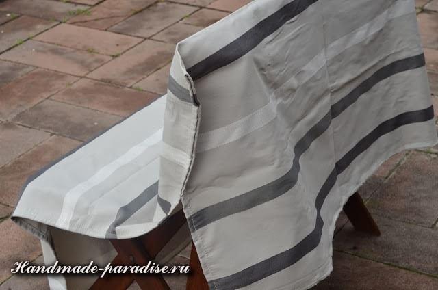 Шитье чехла для садовой скамейки (2)
