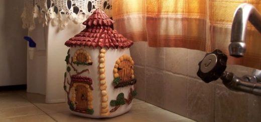 Сказочный домик из пластиковой бутылки