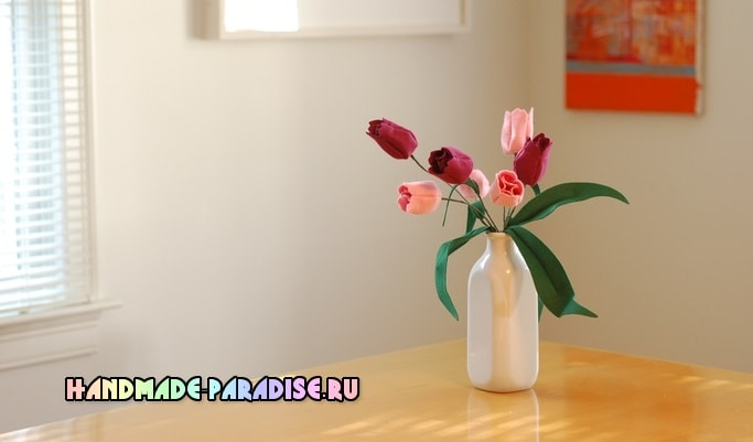 Тюльпаны из фетра - как сшить