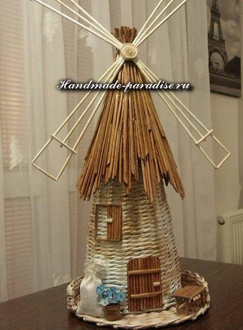 поделка ветряная мельница
