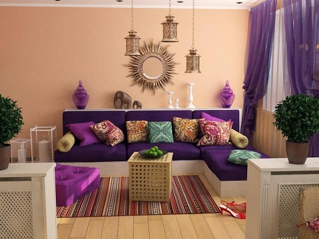 Восточный стиль в интерьере и дизайне комнат (2)