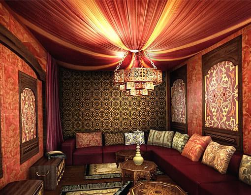 Восточный стиль в интерьере и дизайне комнат (7)