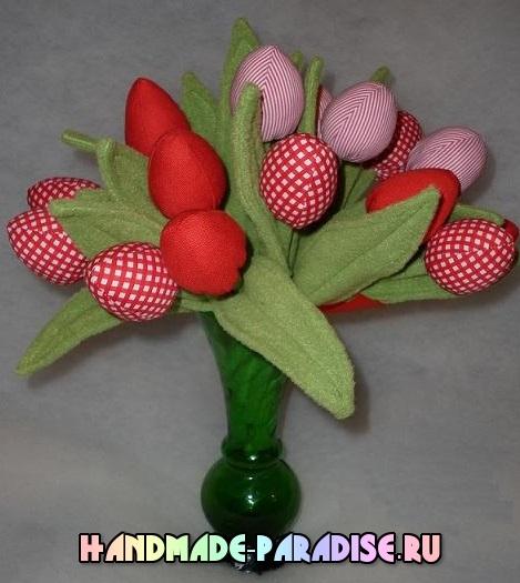 как сшить тюльпаны из ткани (10)