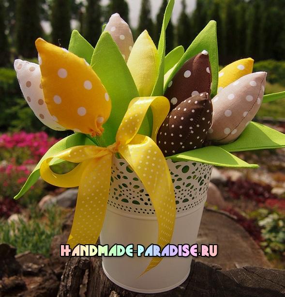 как сшить тюльпаны из ткани (13)