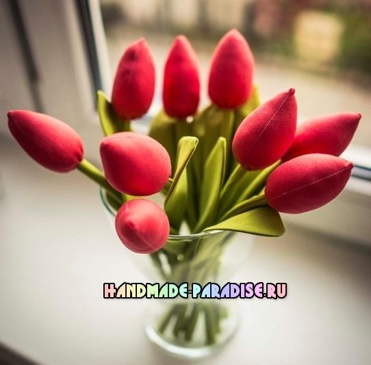 как сшить тюльпаны из ткани (6)