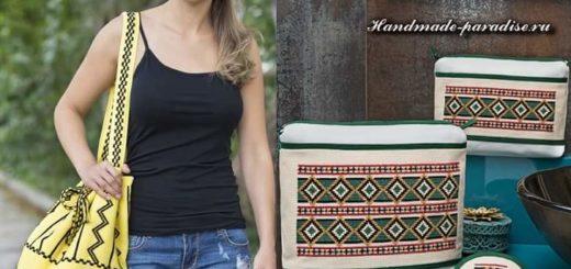 Вышивка для сумок в этническом стиле
