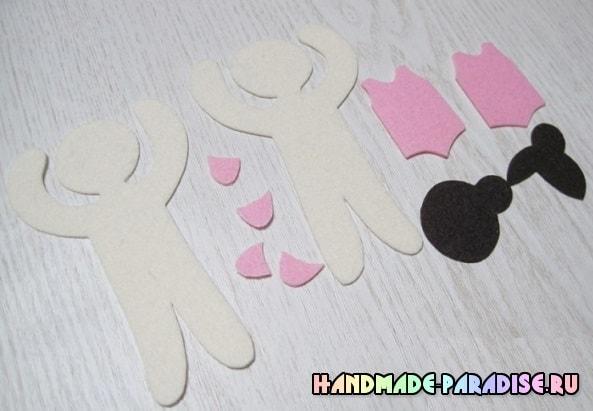 Балерина - брелок из фетра своими руками (2)