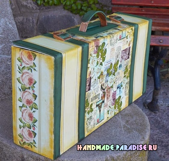 Как сделать чемодан из коробки от ноутбука (6)