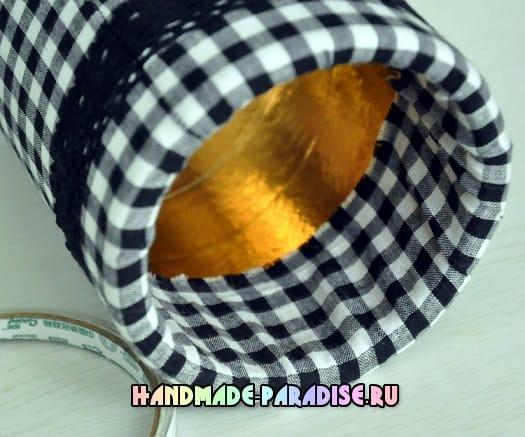 Декоративная ваза для цветов из коробки (10)