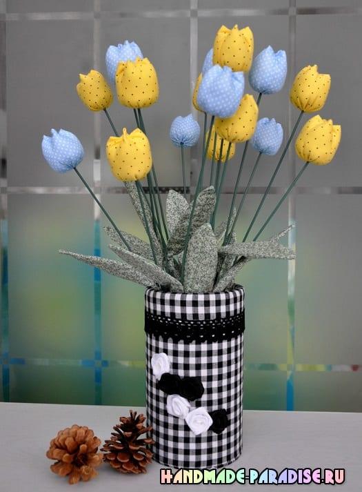 Декоративная ваза для цветов из коробки (11)