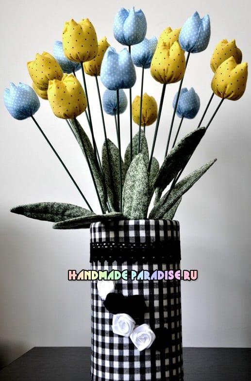 Декоративная ваза для цветов из коробки (3)