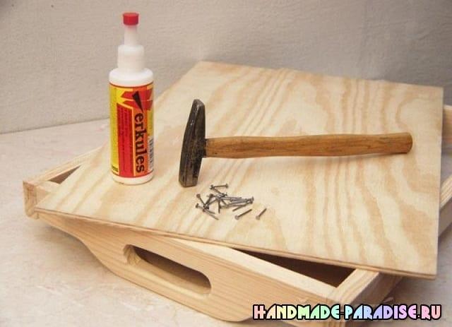 Как сделать деревянный поднос (4)