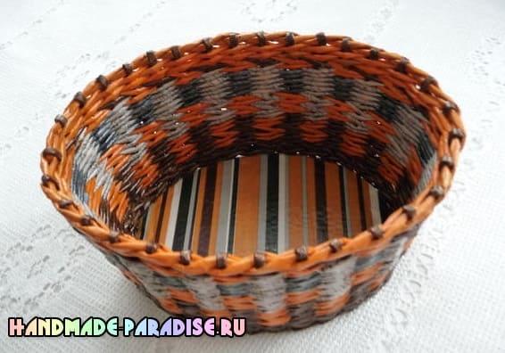 Как сделать форму для плетения корзинки из газет
