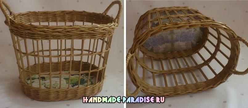 Как сделать форму для плетения корзинки из газет (3)