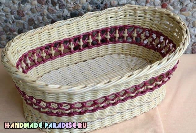 Как сделать форму для плетения корзинки из газет (4)
