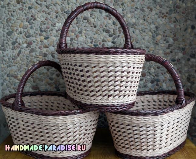 Как сделать форму для плетения корзинки из газет (6)