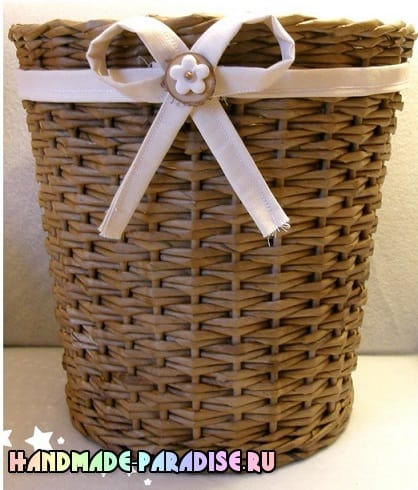 Как сделать форму для плетения корзинки из газет (8)