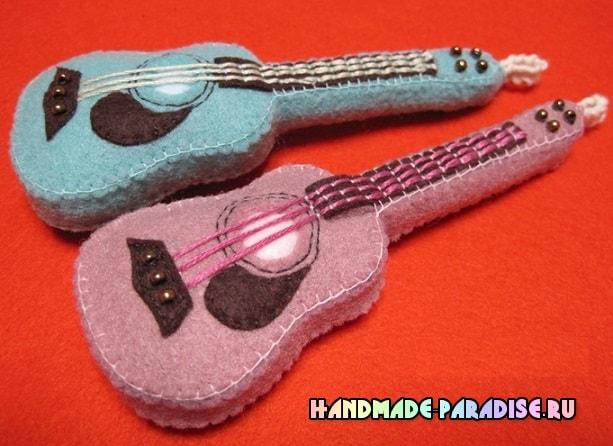 Как сшить гитару - сувенир из фетра (2)