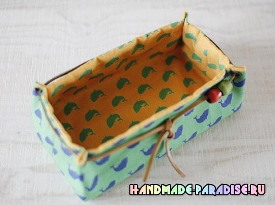 Как сшить корзинку из ткани (10)