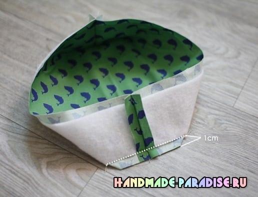 Как сшить корзинку из ткани (4)