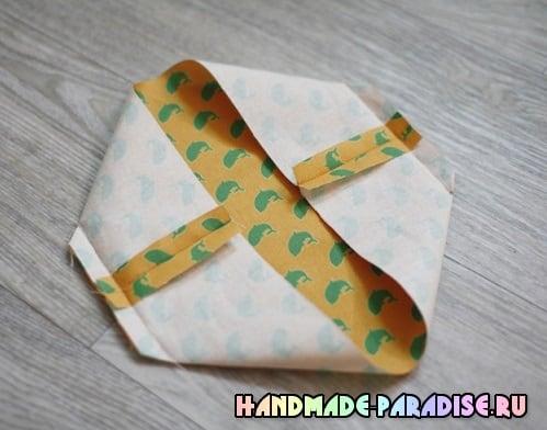 Как сшить корзинку из ткани (5)