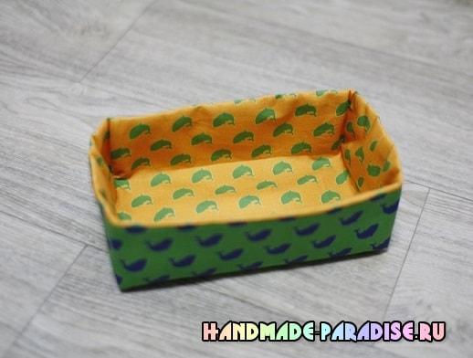 Как сшить корзинку из ткани (7)