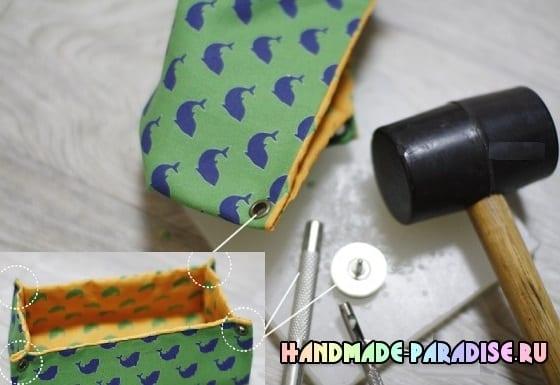 Как сшить корзинку из ткани (8)