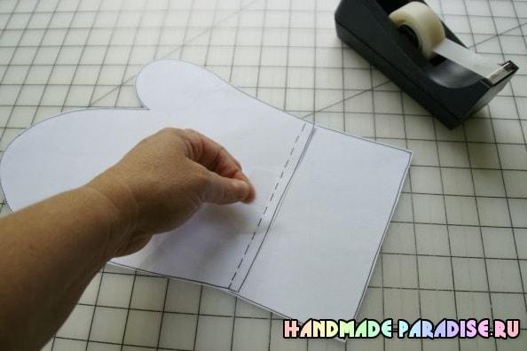 Как сшить прихватку рукавицу. Мастер-класс (4)