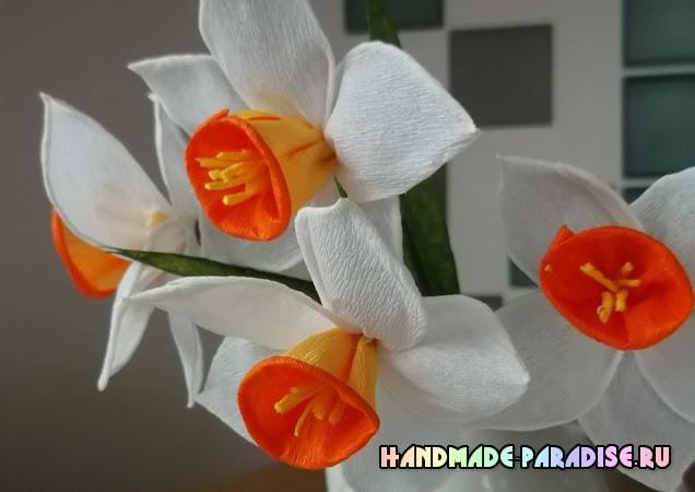 Из гофрированной бумаги. Нарциссы (8)
