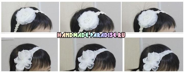 Нежные повязки на голову для ребенка (2)