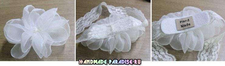Нежные повязки на голову для ребенка (4)