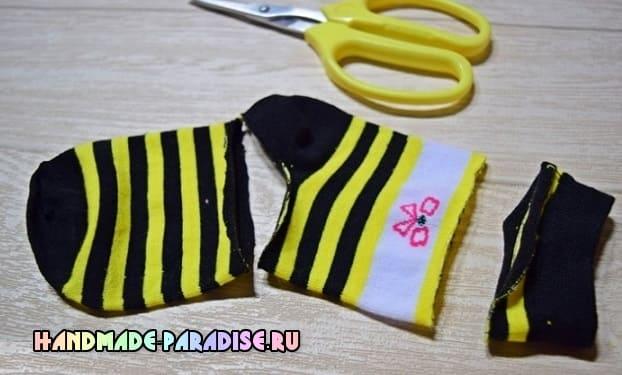 Пчелка из носочков. Мастер-класс (2)