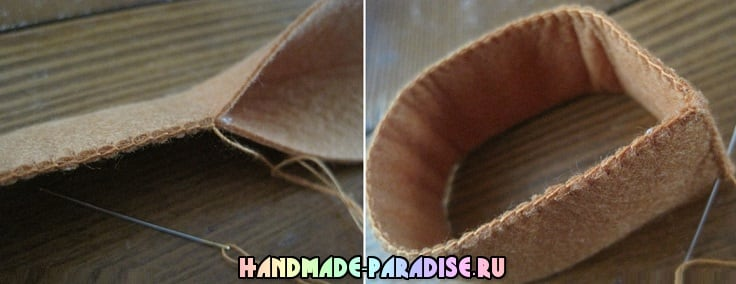 Шоколадное пирожное из фетра. Мастер-класс (5)