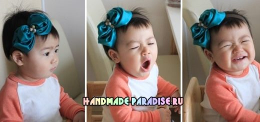 Цветочная повязка на голову для ребенка