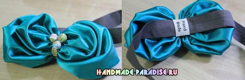 Цветочная повязка на голову для ребенка (3)