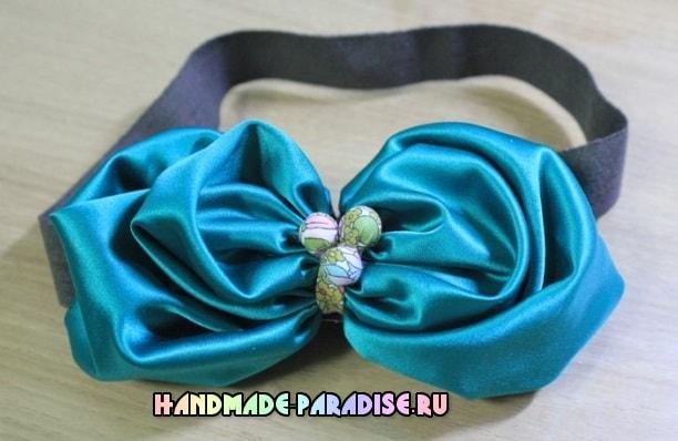 Цветочная повязка на голову для ребенка (4)